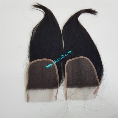 16 inches Vietnamese Hair Free Part Lace Closure 4x4
