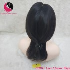 Straight 4x4 Lace Closure Wigs 12inches 130% Density