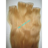 BLONDE WEAVE HAIR WAVY