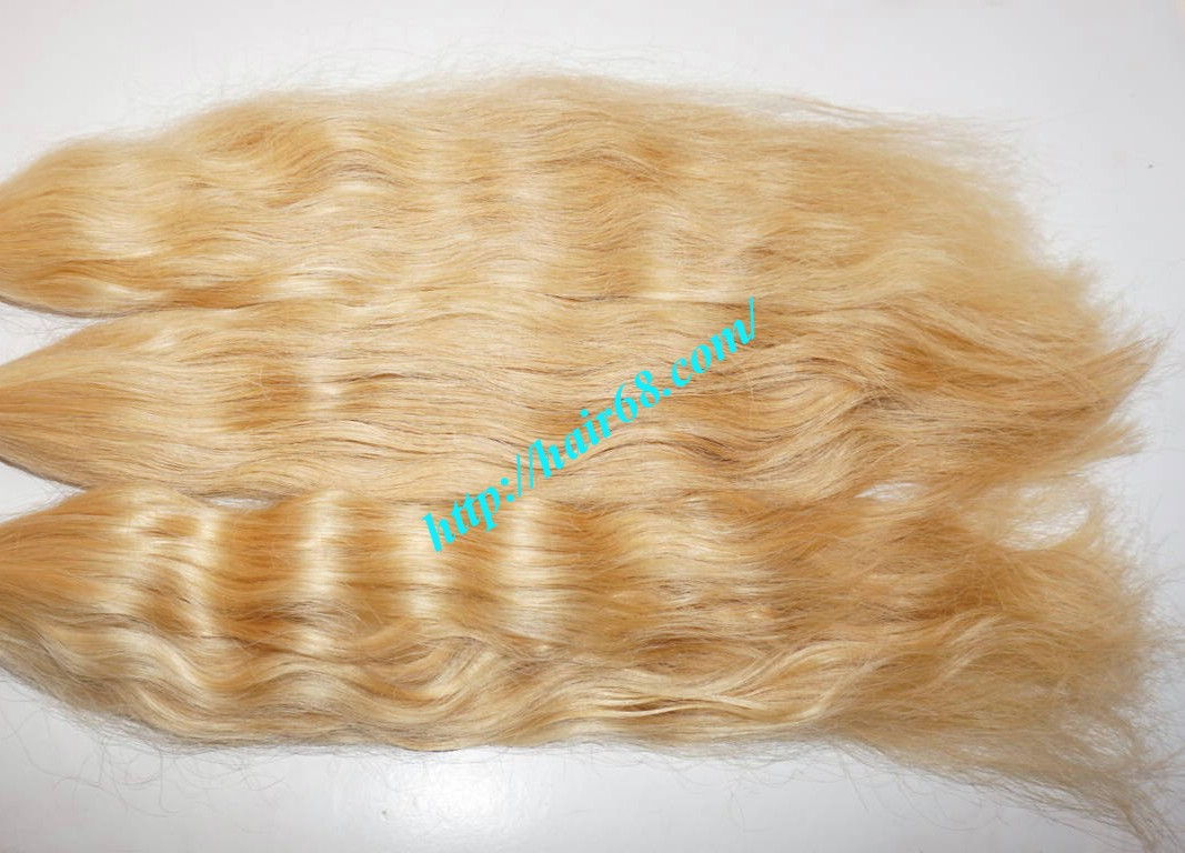 12 Inch Blonde Wavy Weave Remy Hair