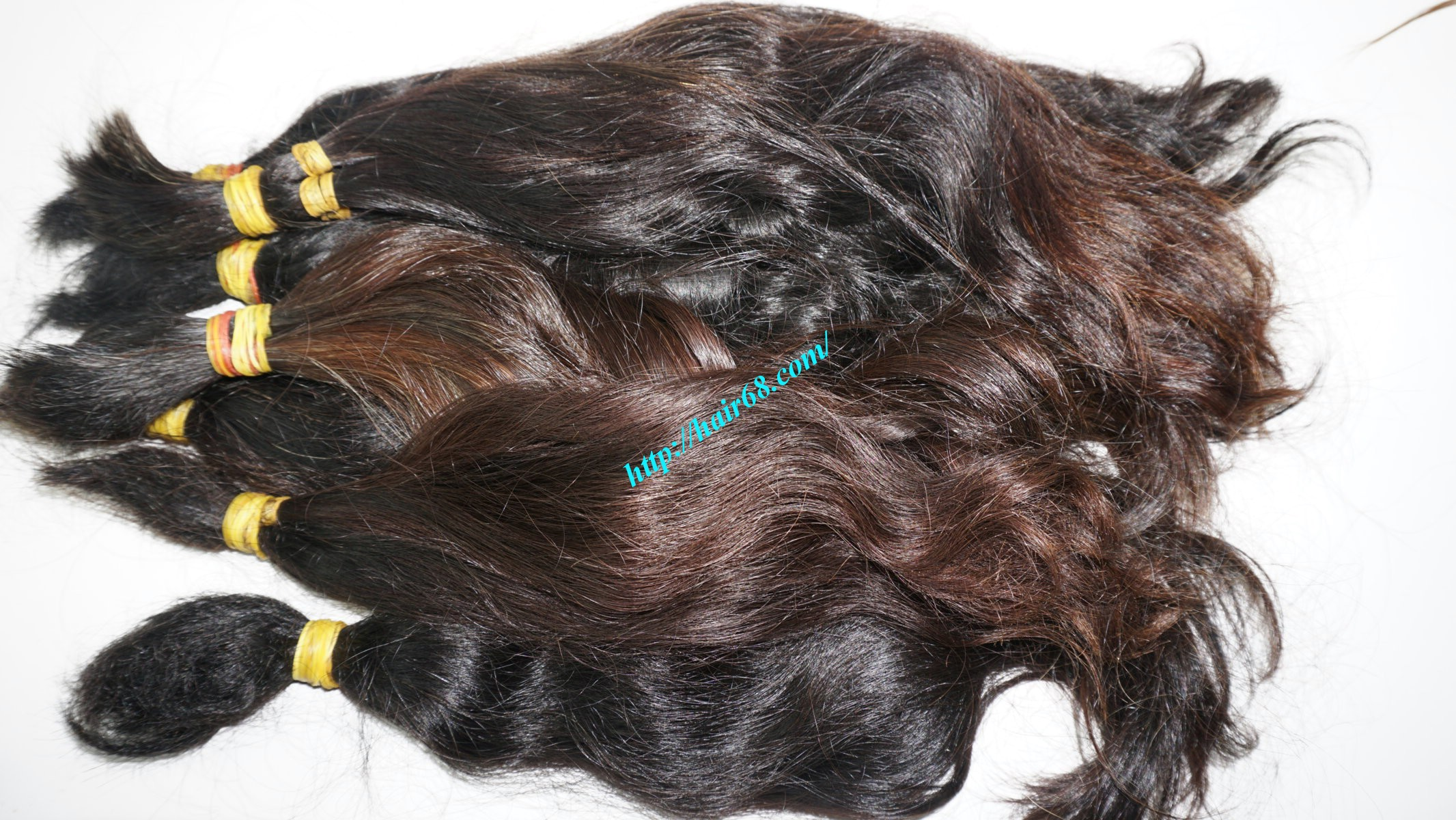 12 inch cheap human hair wavy single drawn 5