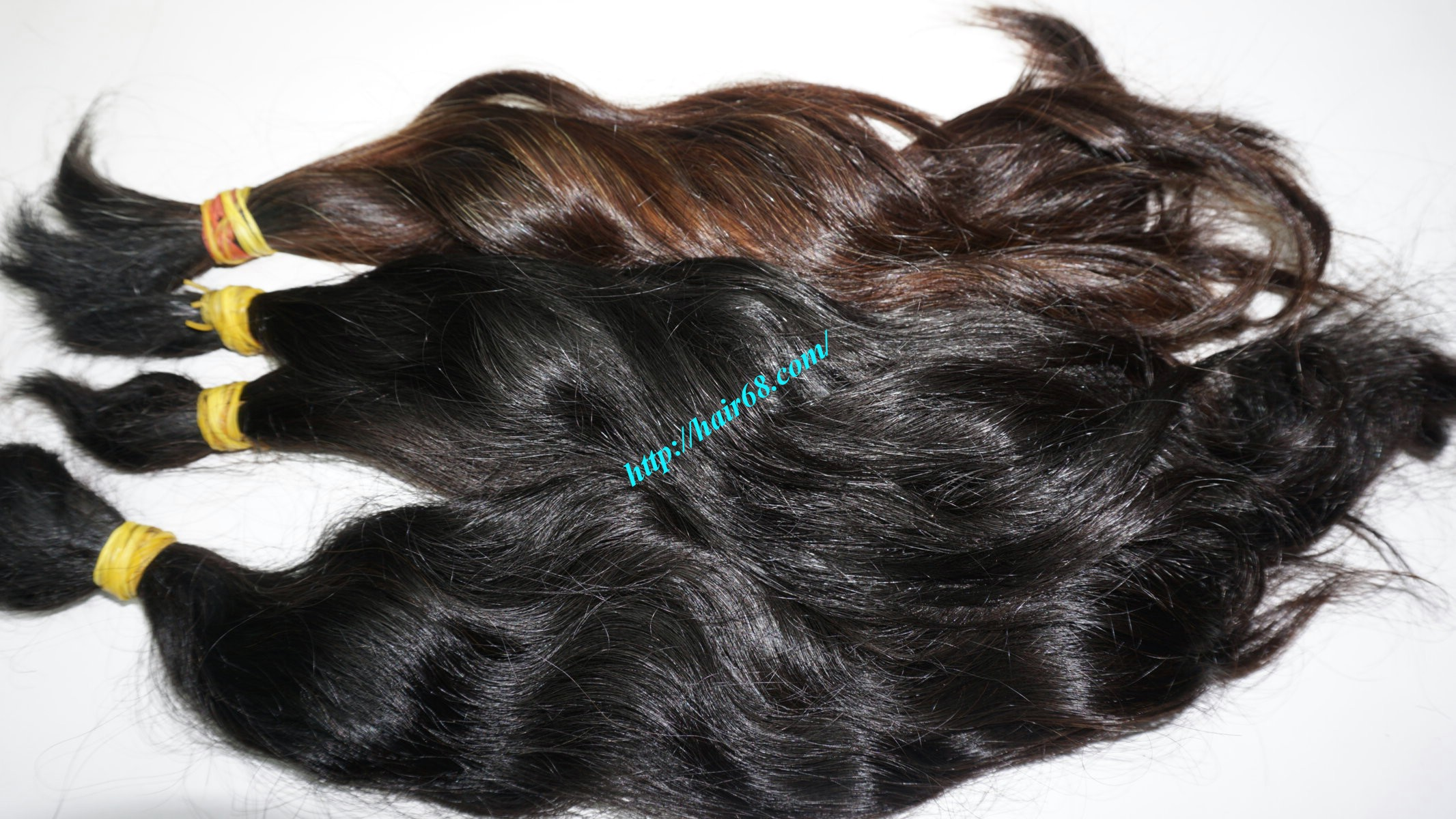 14 inch cheap human hair wavy single drawn 1