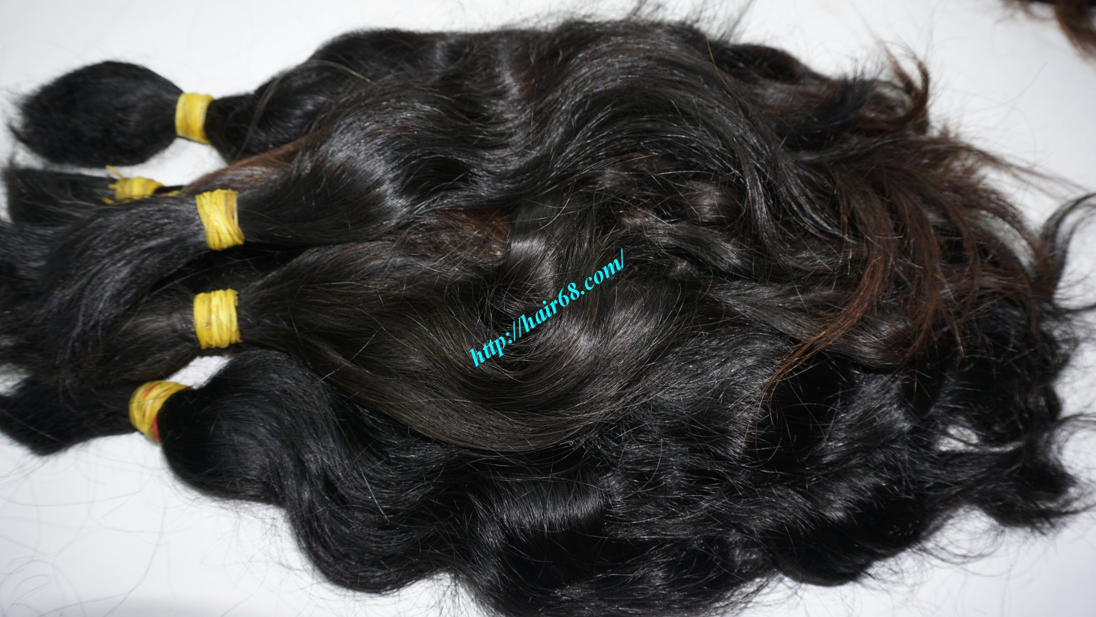 14 inch cheap human hair wavy single drawn 2
