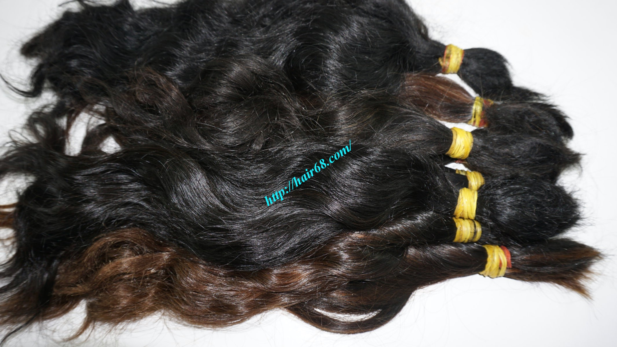 14 inch cheap human hair wavy single drawn 3