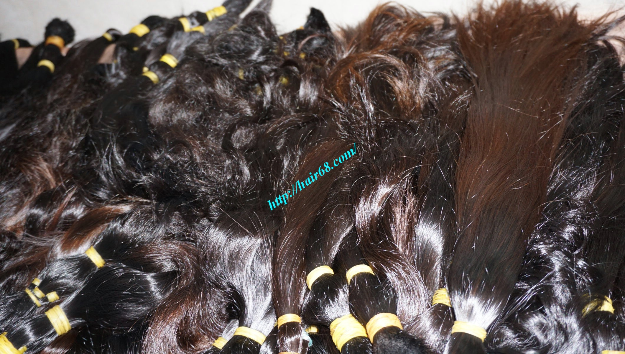 14 inch cheap human hair wavy single drawn 5