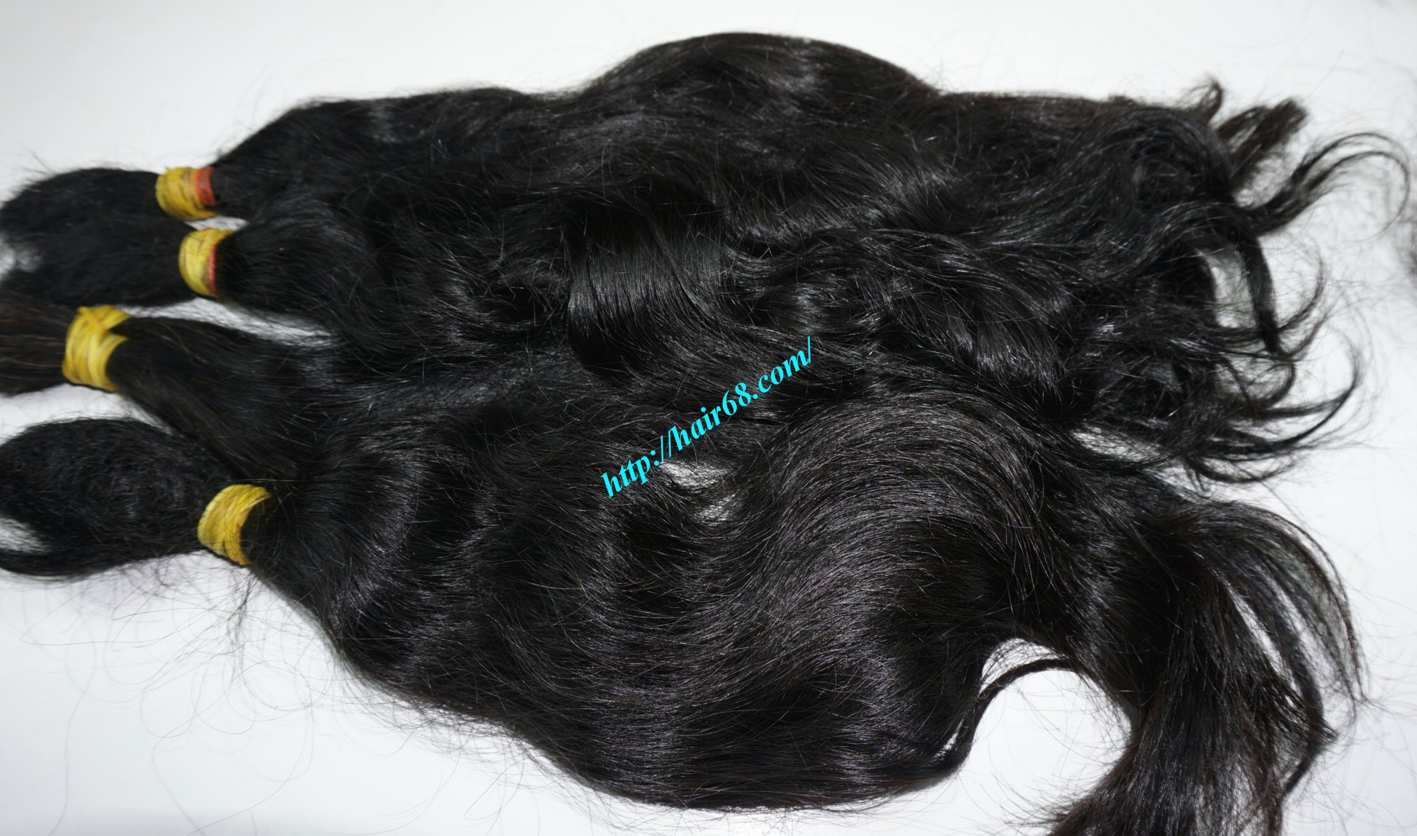 16 inch cheap human hair wavy double drawn 2