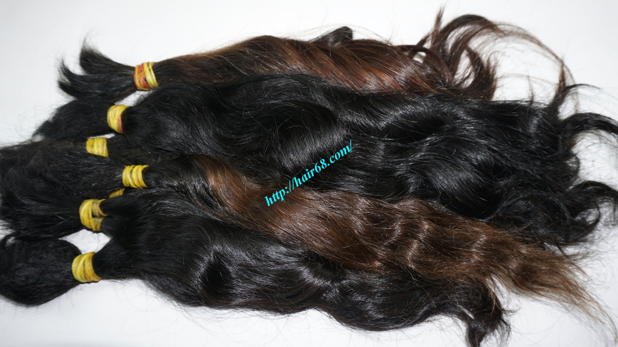16 inch cheap human hair wavy double drawn 3