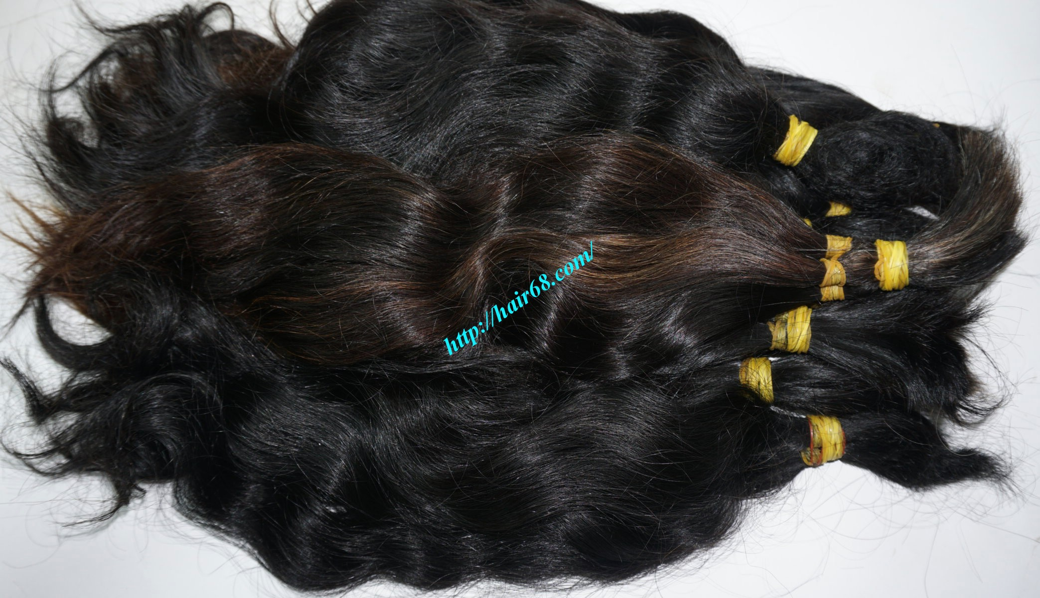 18 inch cheap human hair wavy double drawn 1