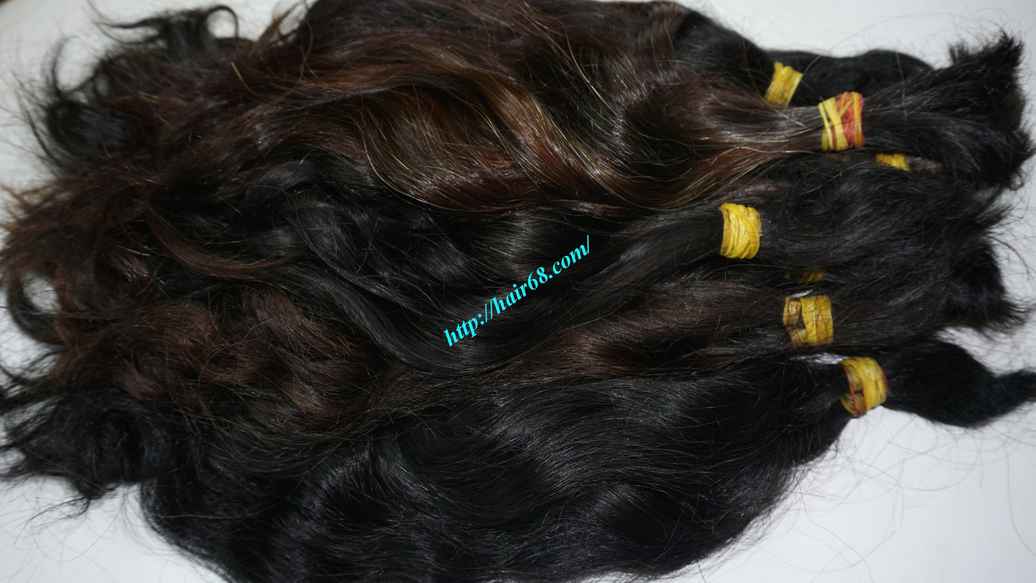 18 inch cheap human hair wavy double drawn 2