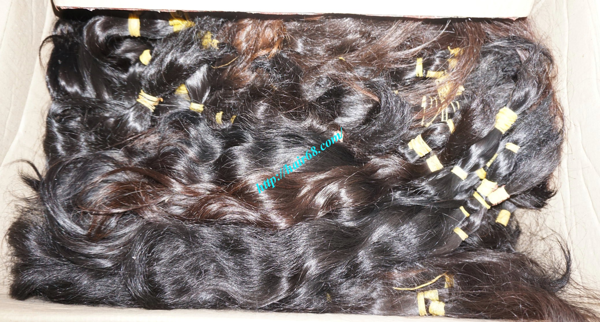 18 inch cheap human hair wavy double drawn 5