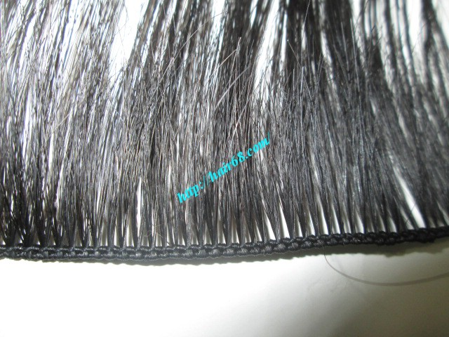 10 inch hand tied weft straight double drawn 1