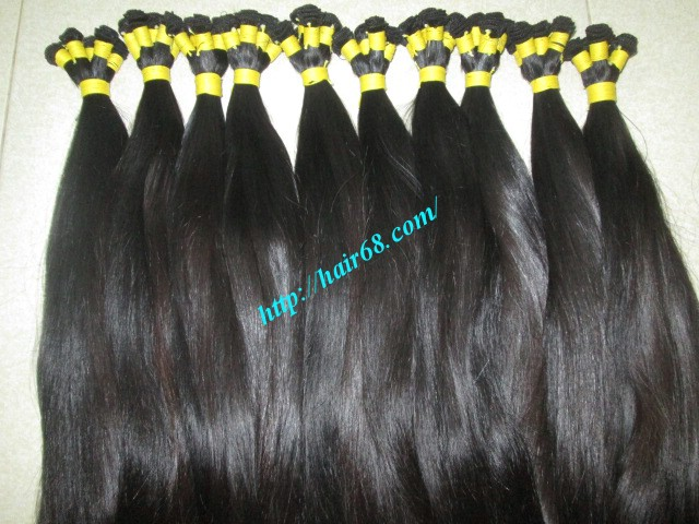10 inch hand tied weft straight double drawn 4