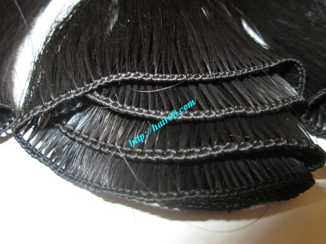 10 inch hand tied weft wavy double drawn 3