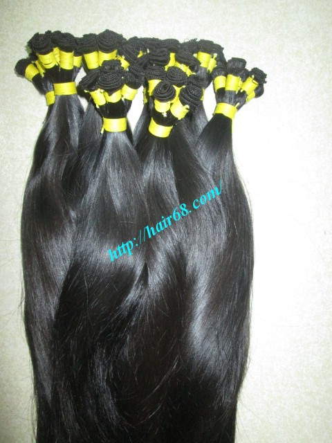 12 inch hand tied weft straight double drawn 3