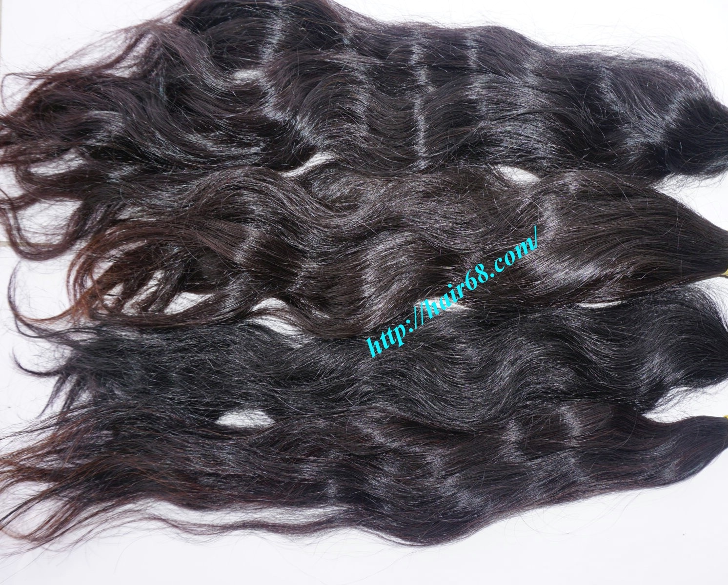 12 inch hand tied weft wavy double drawn 4