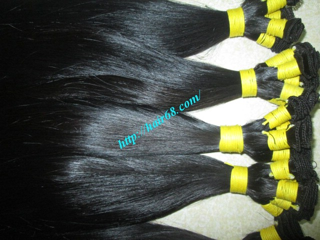 14 inch hand tied weft straight single drawn 4