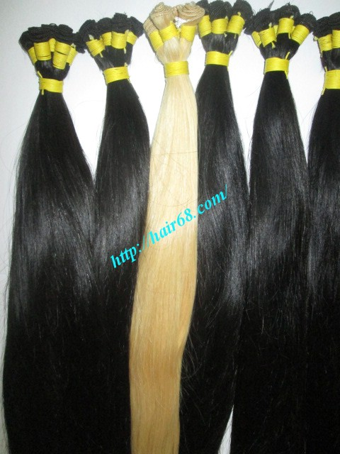 14 inch hand tied weft straight single drawn 5