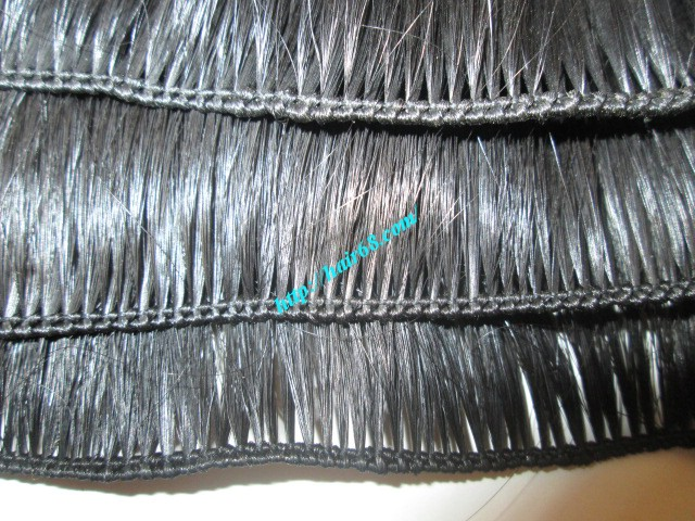 14 inch hand tied weft wavy double drawn 3