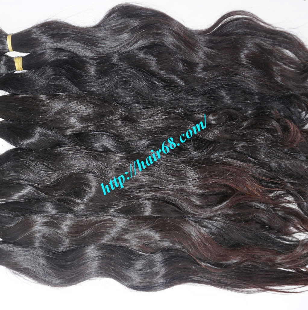 14 inch hand tied weft wavy double drawn 4