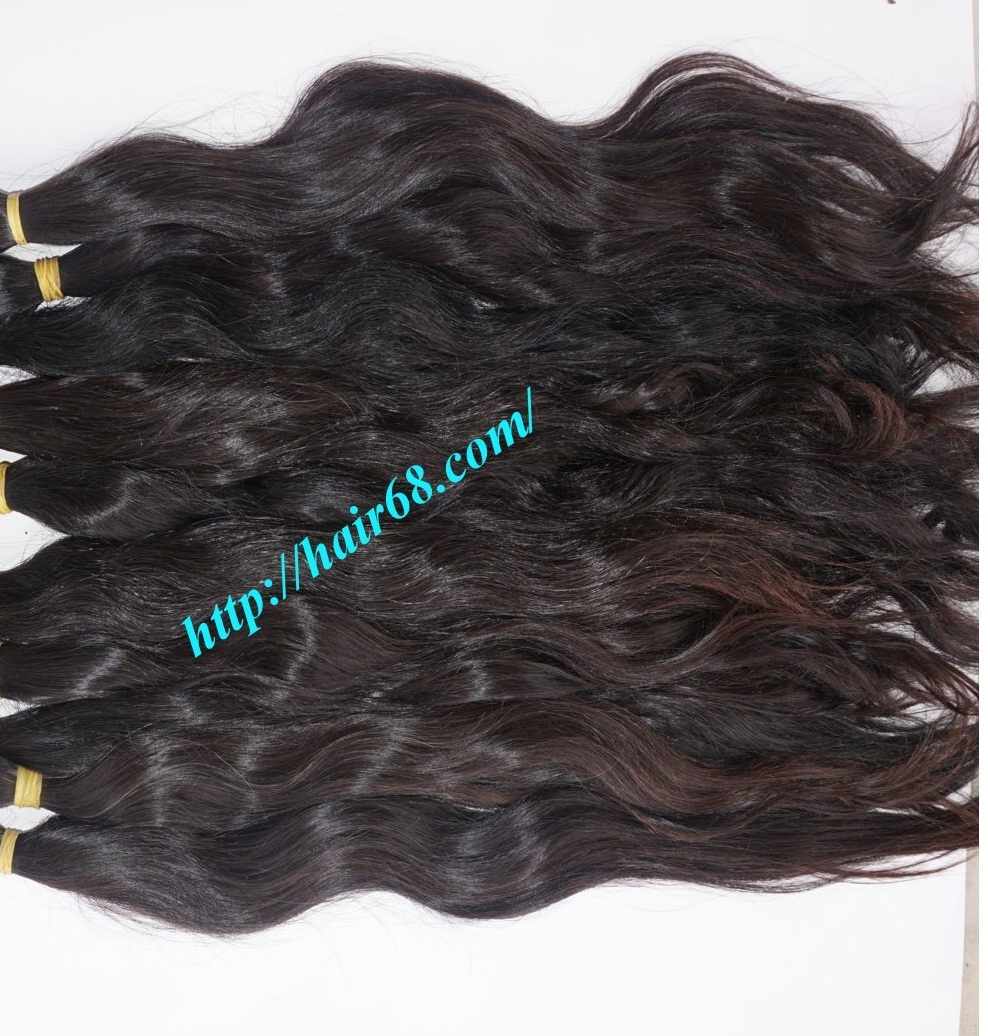 14 inch hand tied weft wavy double drawn 5