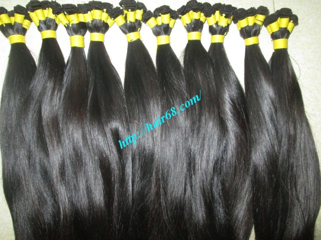 16 inch hand tied weft straight double drawn 1