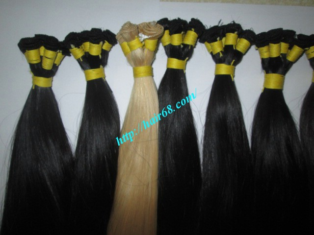 16 inch hand tied weft straight double drawn 4