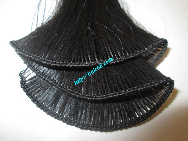 16 inch hand tied weft hair wavy single drawn 3