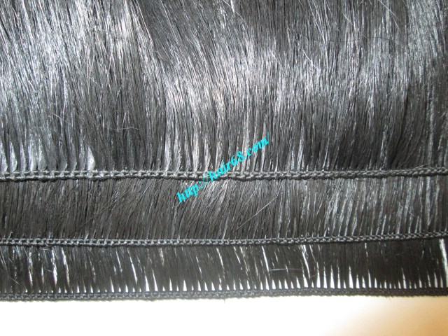 16 inch hand tied weft wavy double drawn 3