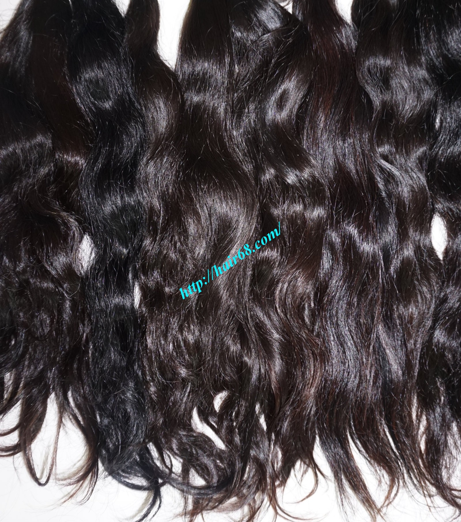 18 inch hand tied weft wavy double drawn 4