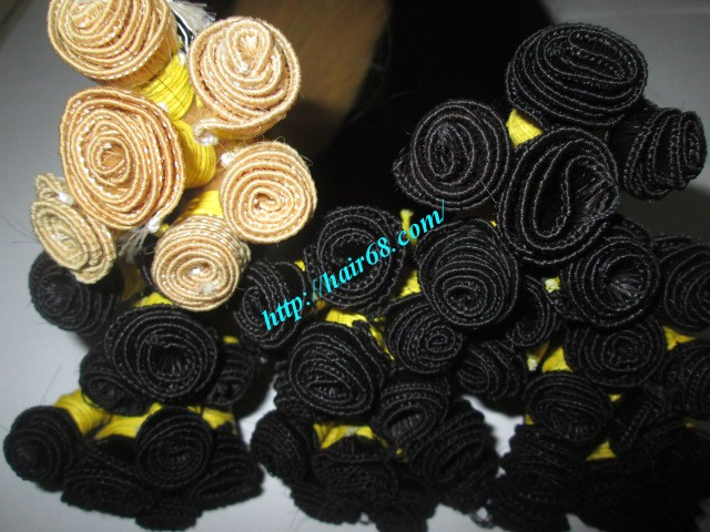20 inch hand tied weft wavy double drawn 1