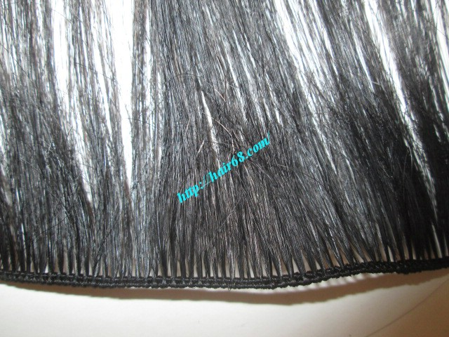 20 inch hand tied weft wavy double drawn 3