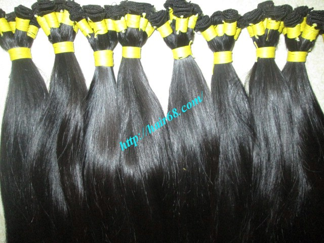 24 inch hand tied weft straight double drawn 3