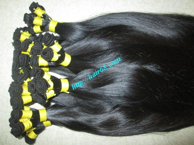 24 inch hand tied weft straight double drawn 5