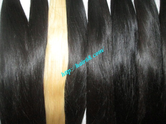 24 inch hand tied weft straight single drawn 3