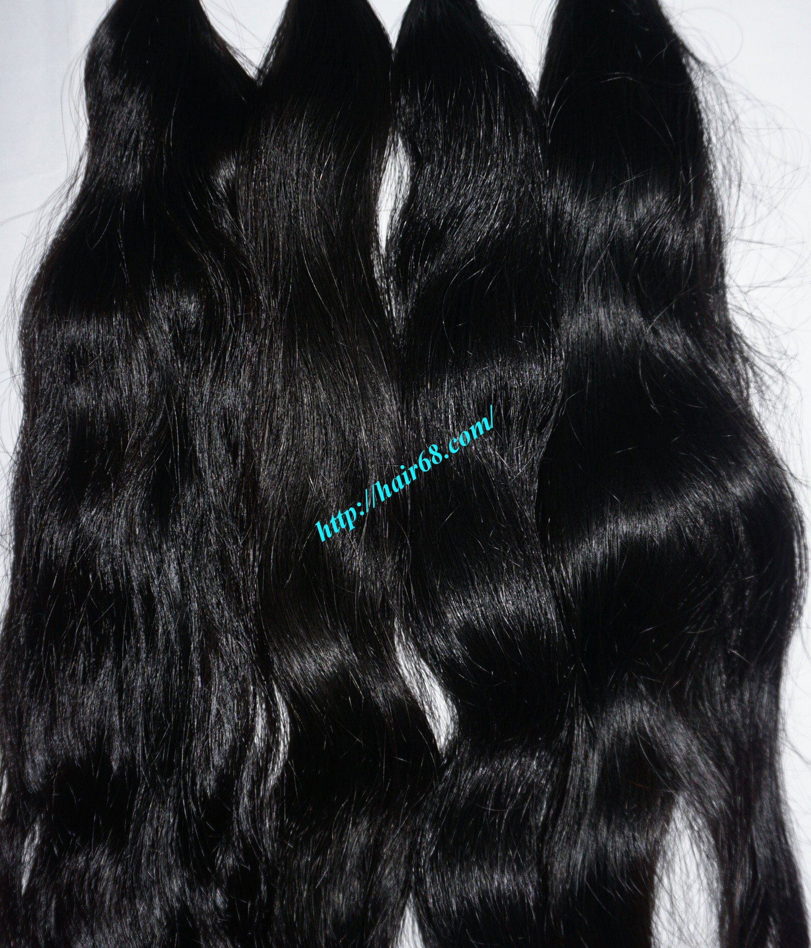 24 inch hand tied weft wavy double drawn 5