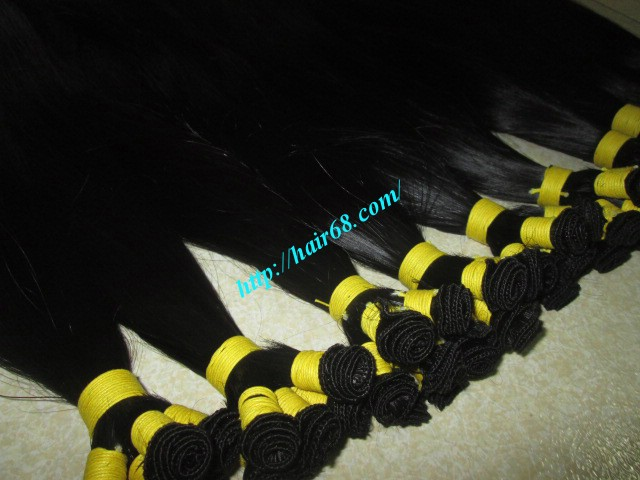 26 inch hand tied weft straight double drawn 3