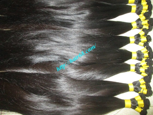 26 inch hand tied weft straight single drawn 2