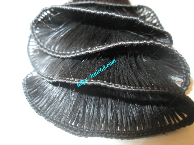 26 inch hand tied weft wavy double drawn 1