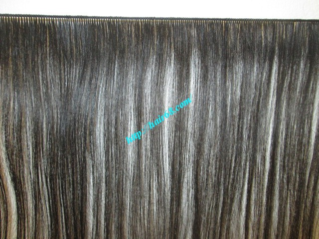 26 inch hand tied weft wavy double drawn 2