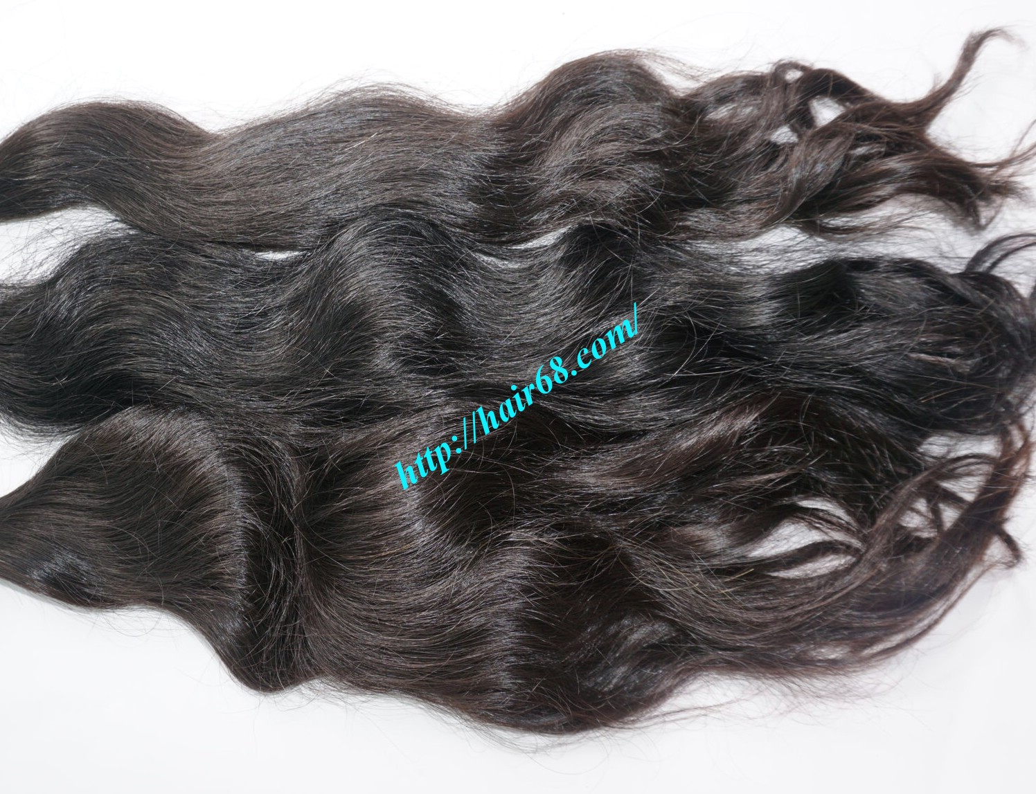 26 inch hand tied weft wavy double drawn 4