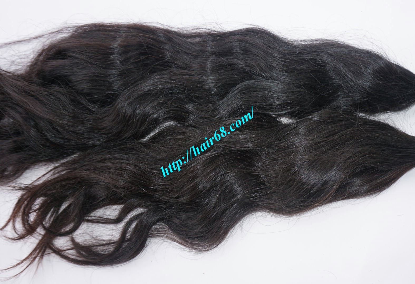 26 inch hand tied weft wavy double drawn 5