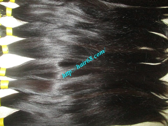 28 inch hand tied weft straight double drawn 4