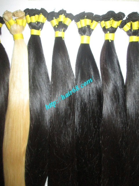 28 inch hand tied weft straight single drawn 2