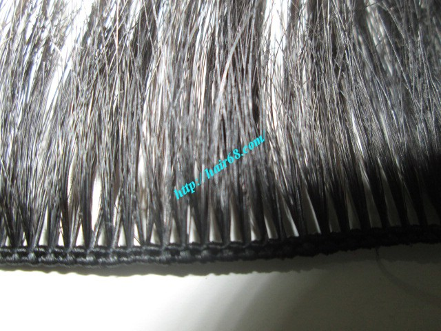 28 inch hand tied weft wavy double drawn 2