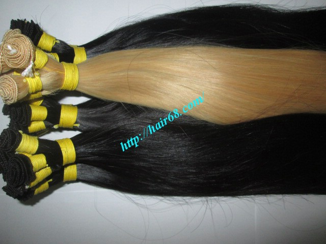 30 inch hand tied weft straight double drawn 6