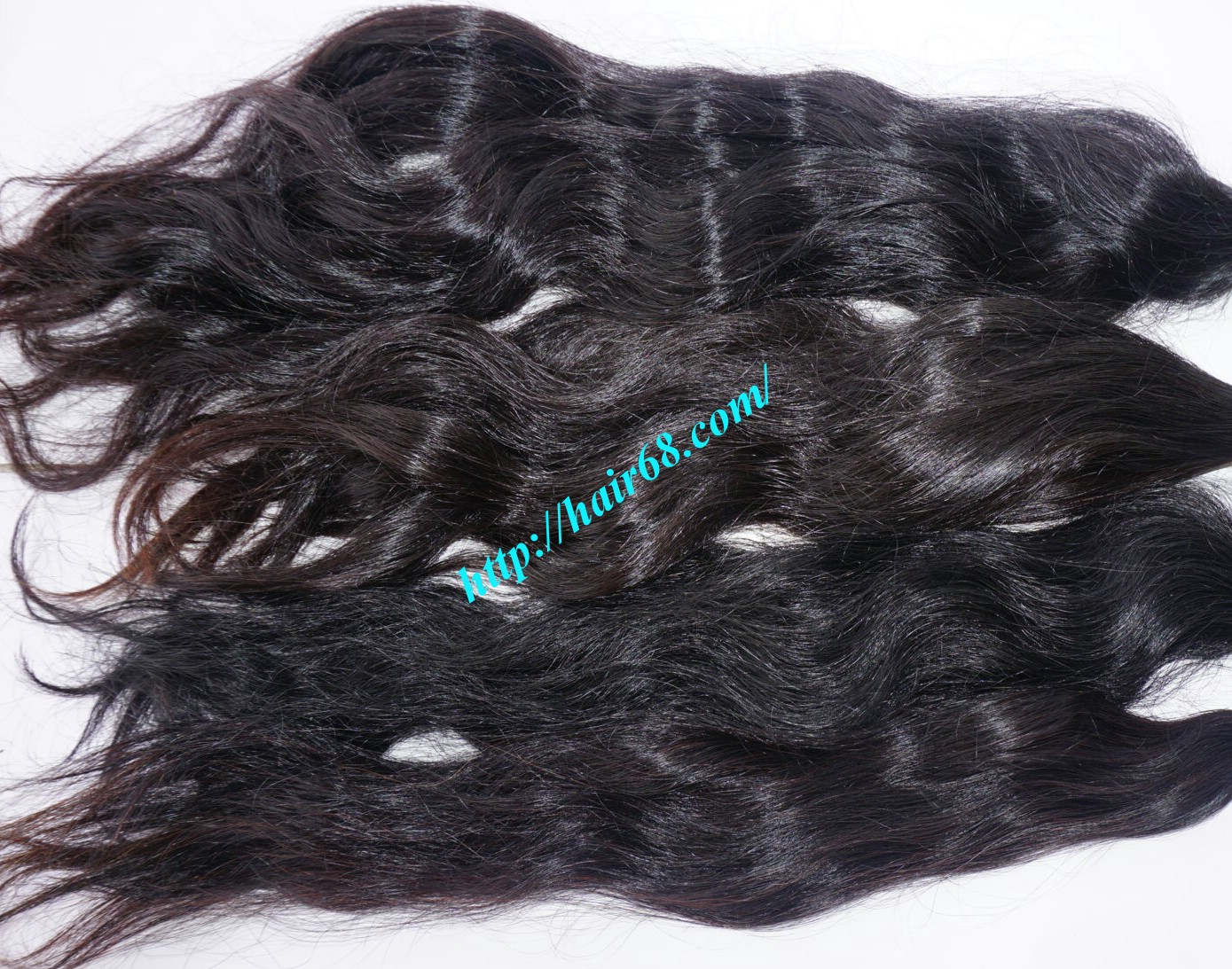 32 inch hand tied weft hair wavy single drawn 4