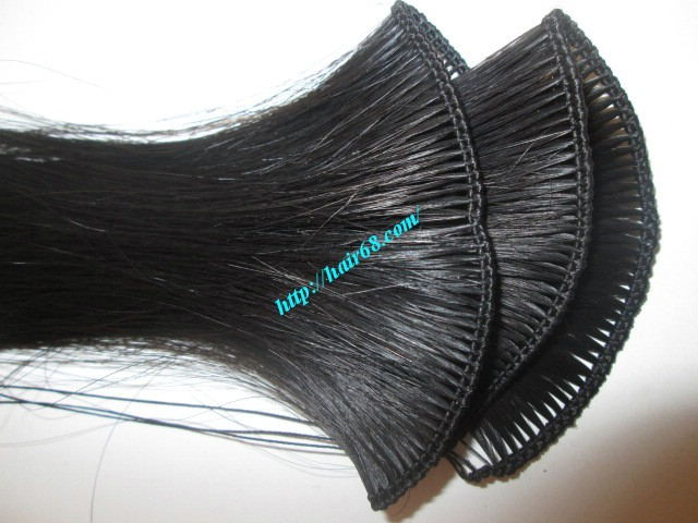32 inch hand tied weft wavy double drawn 3