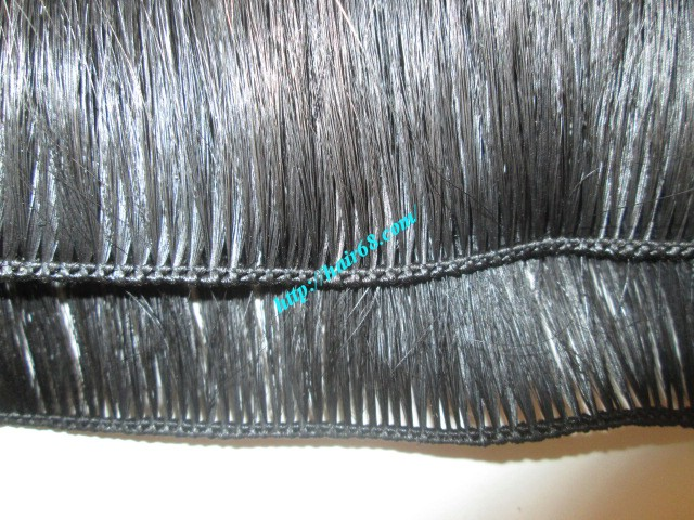 8 inch hand tied weft hair straight double drawn 2