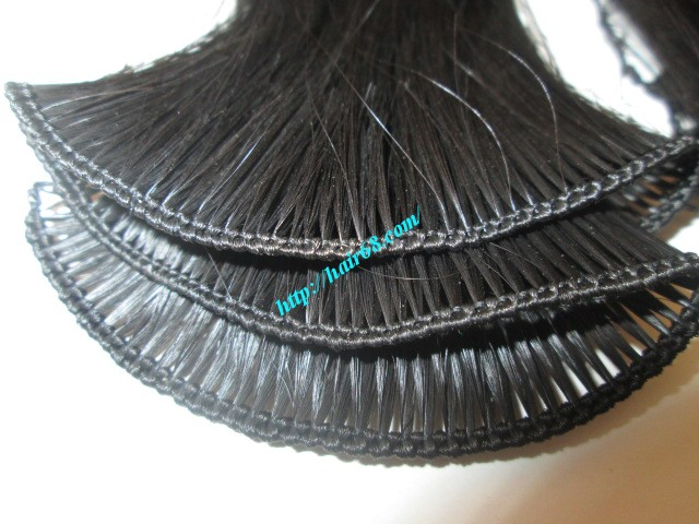 8 inch hand tied weft hair 1