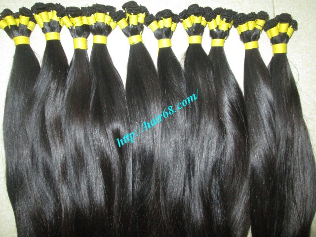 8 inch hand tied weft hair 3